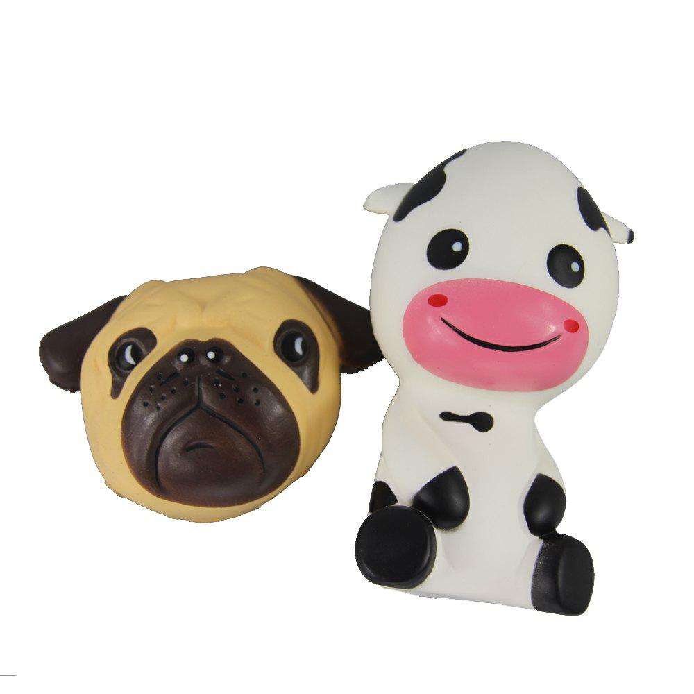 Trendy 2PCS Jumbo Squishy Dog and Taurus Relieve Stress Toys