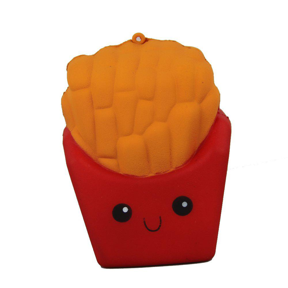 Outfit Jumbo Squishy Red Fries Toys