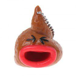 Creative Funny Simulation of Shit Puking Tongue Pressure Toy Key Ring -