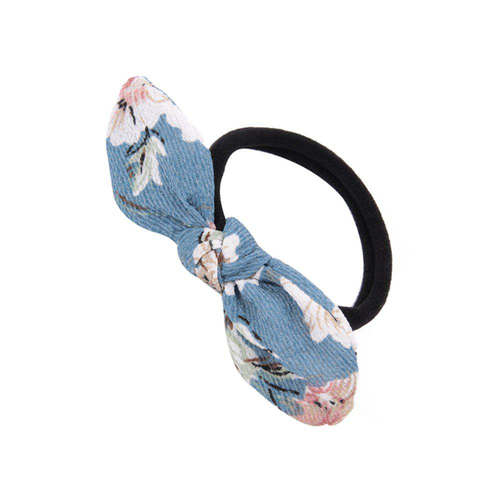 Chic Flower Rubber Band Bow Hai Rline