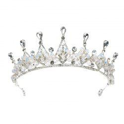 Bride Accessory Crystal Crown Silver -