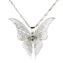 Fashion Lovely Butterfly Pendant Necklace Wing -