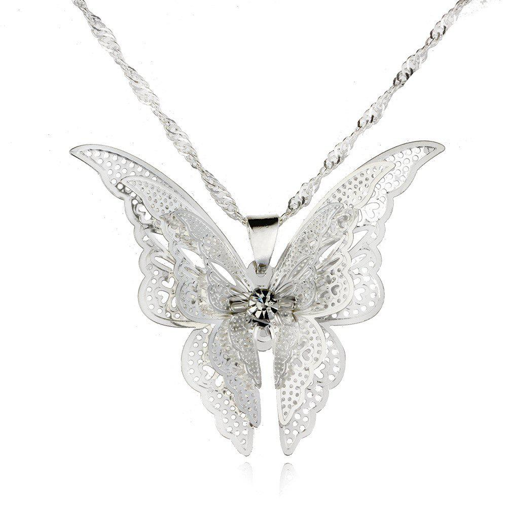 Cheap Fashion Lovely Butterfly Pendant Necklace Wing