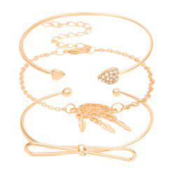 Creative Personality Three-layer Bow Love Bracelet Set -