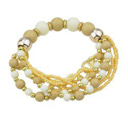 Colorful Multi-storey Bead Chain Bracelet -