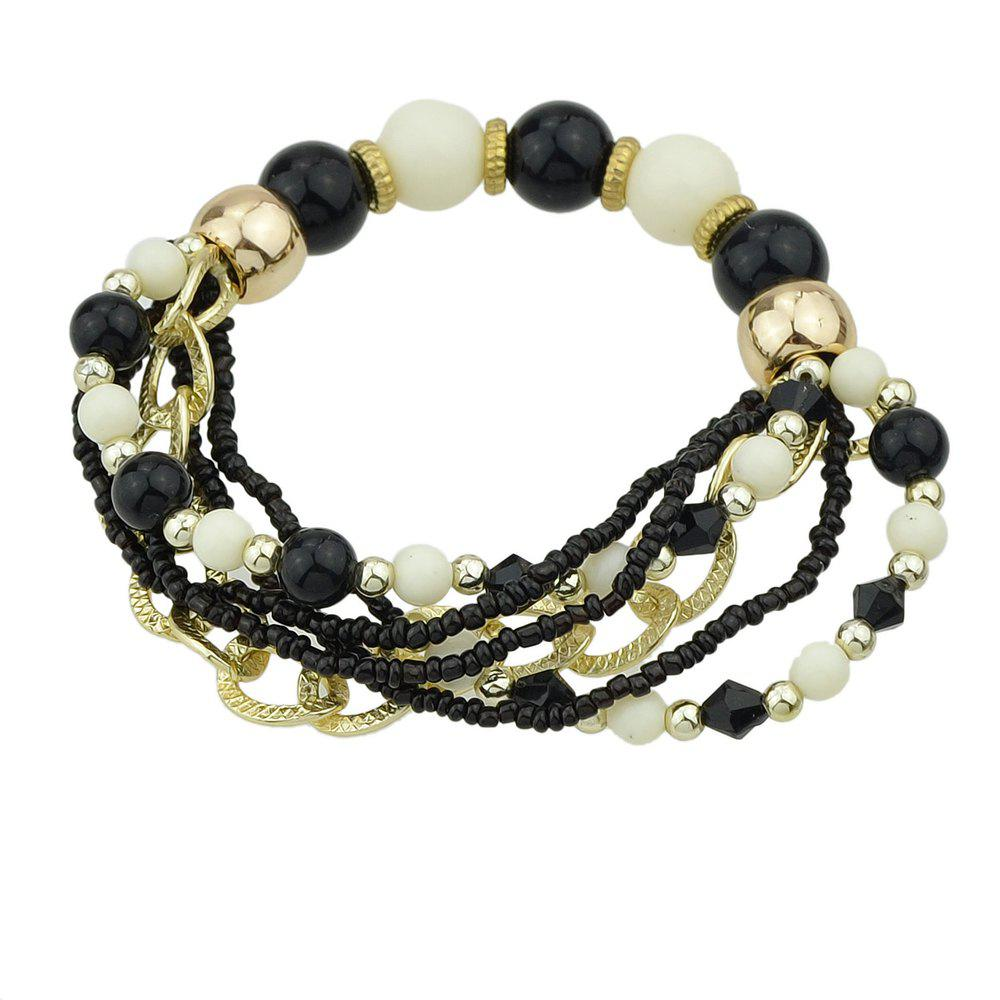 Best Colorful Multi-storey Bead Chain Bracelet