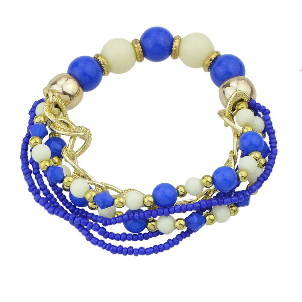 Online Colorful Multi-storey Bead Chain Bracelet