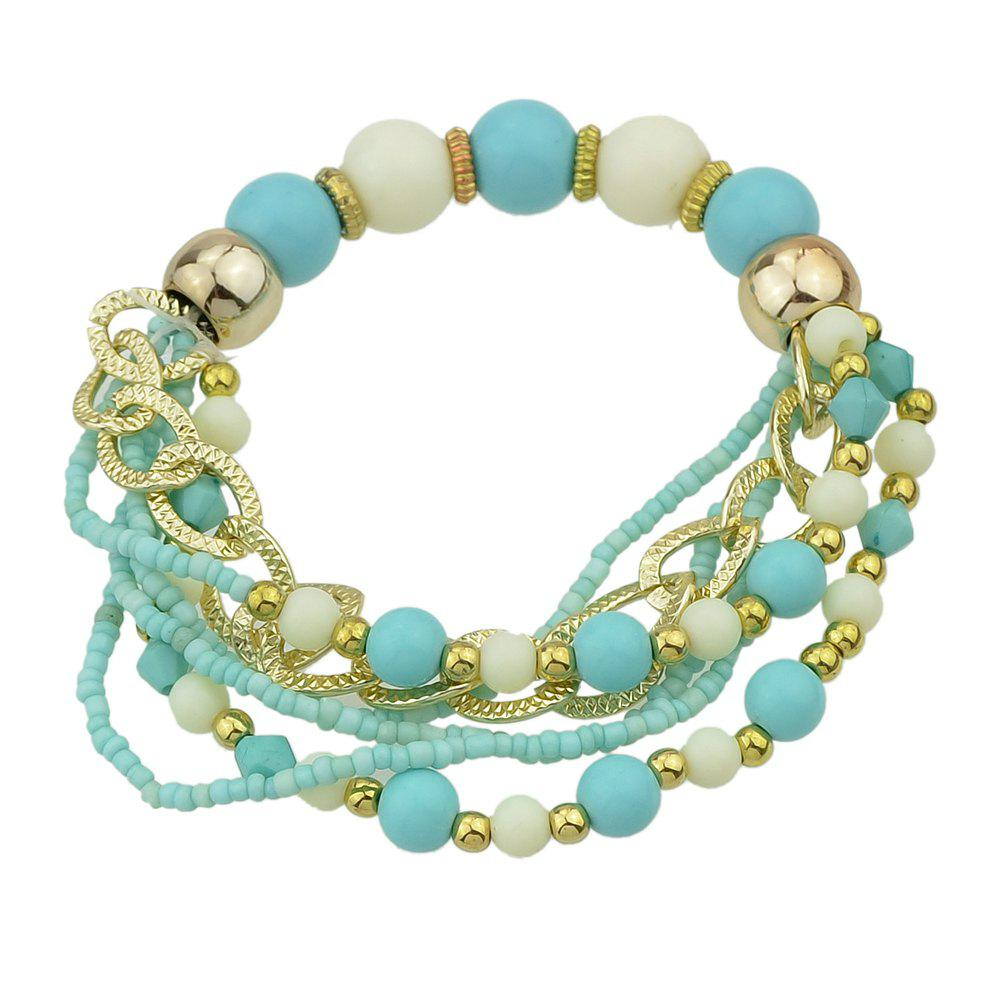 Outfits Colorful Multi-storey Bead Chain Bracelet