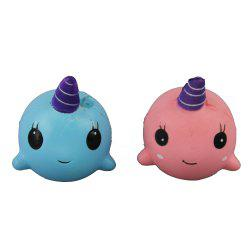 2PCS Jumbo Squishy Two Whale Toys -