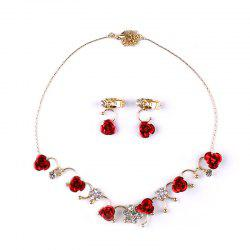 Bride Accessory Rose Flower Earring Set -