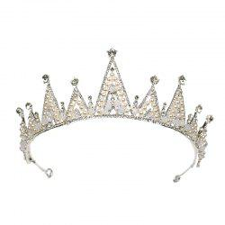 Bride Accessory White Crystal Crown -