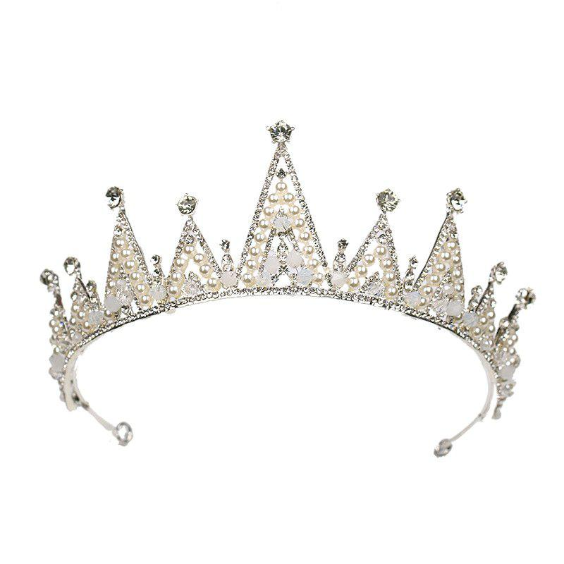 Latest Bride Accessory White Crystal Crown