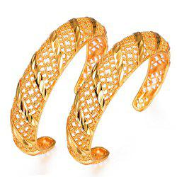 Two Pcs/Lot Hollow Bracelet bangles -