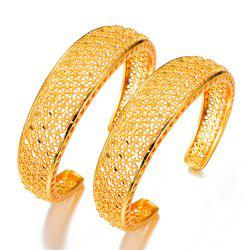 Two Pcs/Lot Ethnic Hollow Women'S Bracelet Bangles -