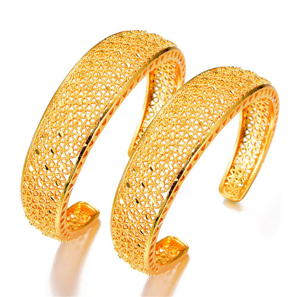 Discount Two Pcs/Lot Ethnic Hollow Women'S Bracelet Bangles