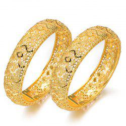 Two Pcs Wedding Hollow Women'S Bracelets Bangles -