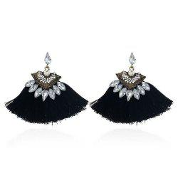 Мода Multicolors Crystal Shell Shape Tassel Dangle Drops Fringing Earrings -