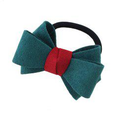 Elastic Rope Chain with Colorful Flannel Bowknot Headband -