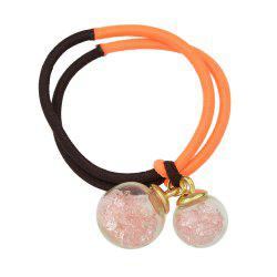 Candy Color Elastic Rope Bead Decoration Headband -