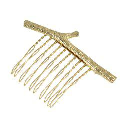 Simple Model Metal Branch Hair Comb for Women -