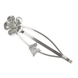 Simple Metal Flower Hairpin for Girls -