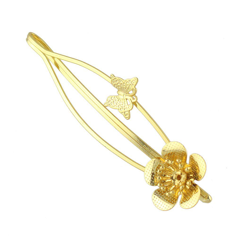 New Simple Metal Flower Hairpin for Girls