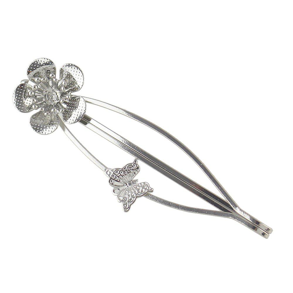 Sale Simple Metal Flower Hairpin for Girls