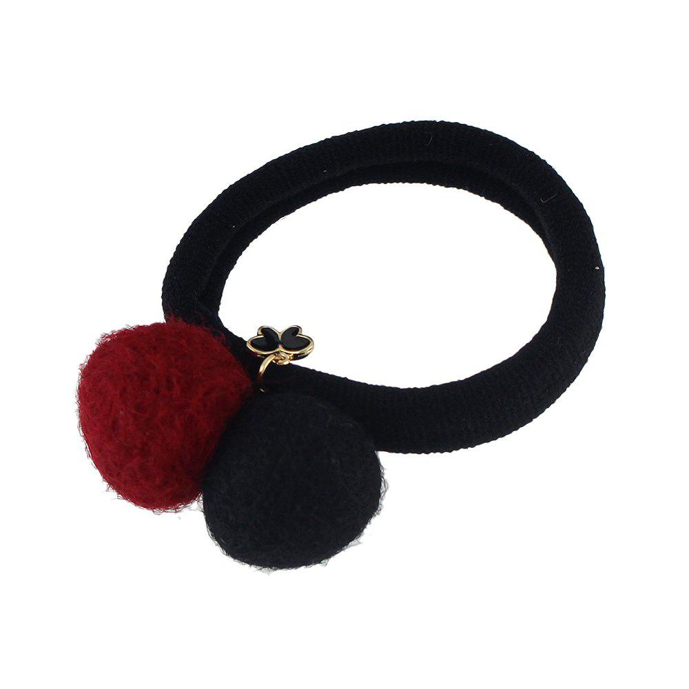 Sale Colorful Double Pompon Elastic Hair Rope Hairband