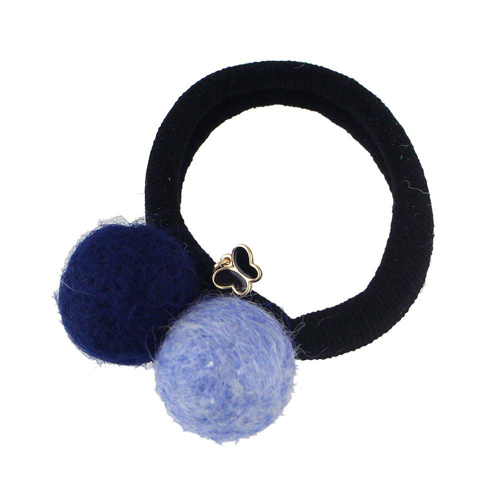 Cheap Colorful Double Pompon Elastic Hair Rope Hairband