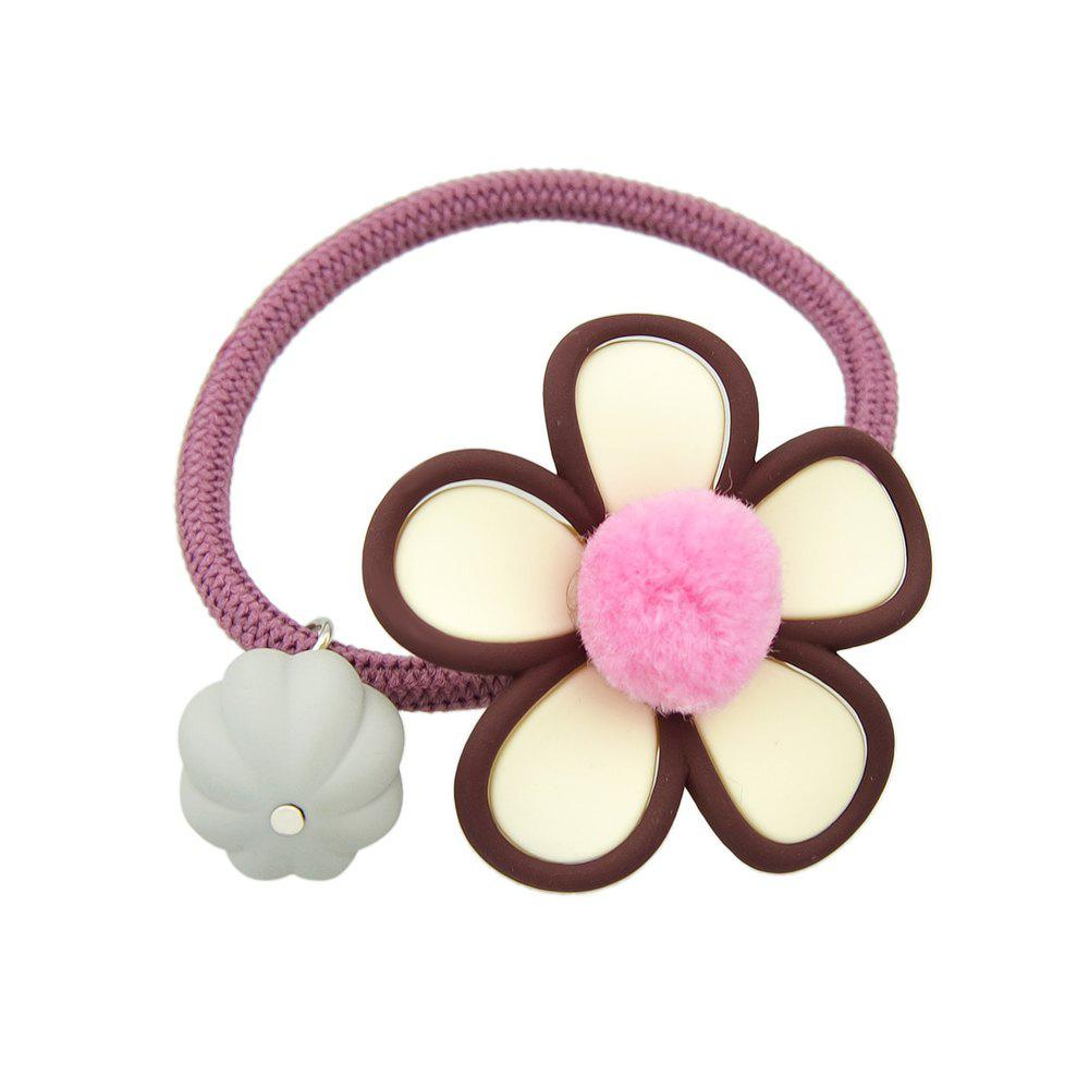 Fashion Simple Model Elastic Rope with Flower Hairband
