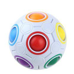 Magic Rainbow Ball Pressing Colorful Cave Decompression Cube -