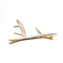 Women Fashion Gold Antler Hair Cuff Clip Hairpin Accessory -