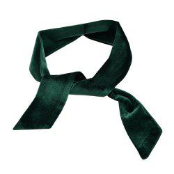 Length Solid Color Velvet Collar Scarf for Women -