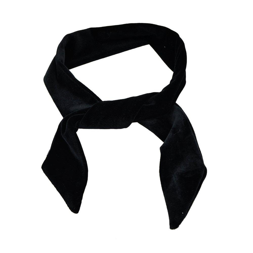 Chic Length Solid Color Velvet Collar Scarf for Women