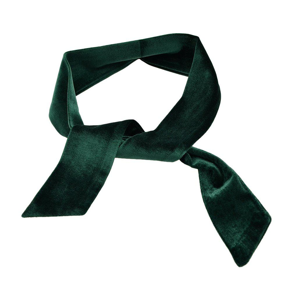Trendy Length Solid Color Velvet Collar Scarf for Women