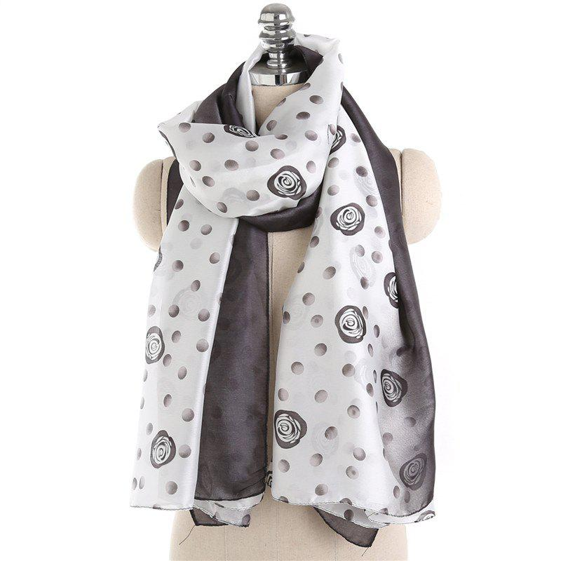 Latest Fashionable Rose Pattern Tassel Cotton Linen Warm Scarf Shawl