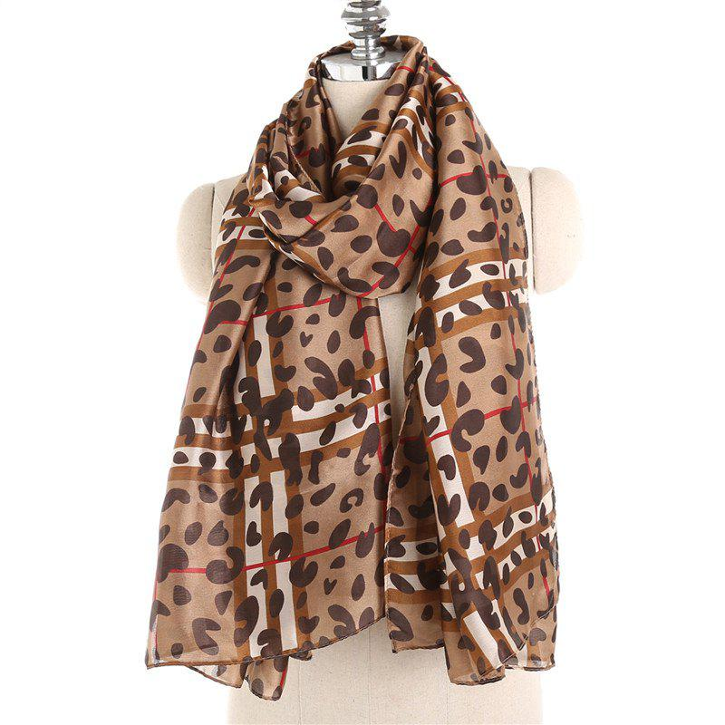 Shops Fashionable Personality Leopard Print Pattern Warm Scarf Shawl
