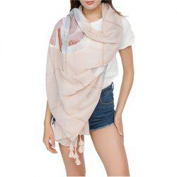 Simple Solid-Colored Fringed Scarf Shawl -