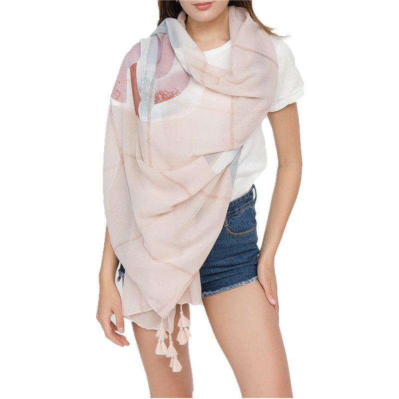 Fashion Simple Solid-Colored Fringed Scarf Shawl