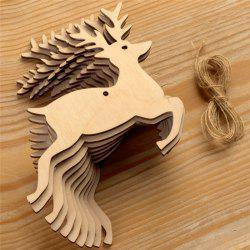 10PCS Wood Chip Home Christmas Tree Ornament Pendant -