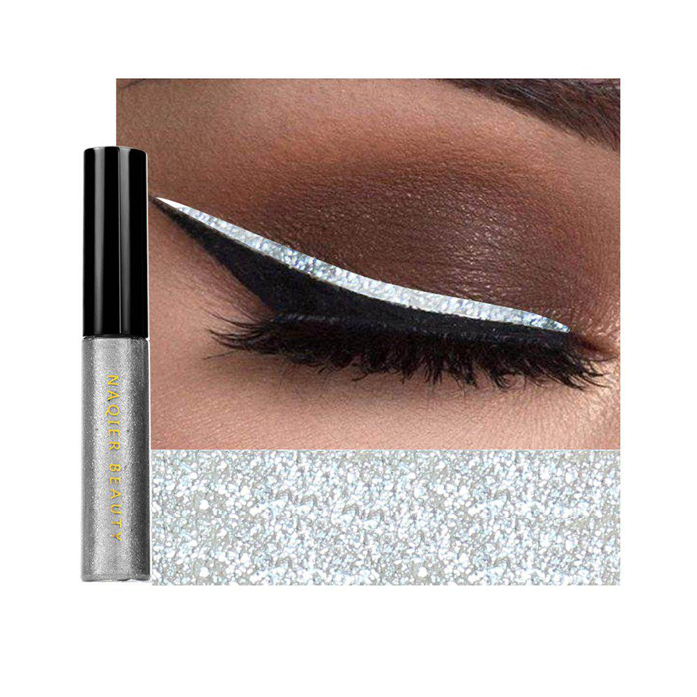 Hot NAQIER Shiny Eyeliner Pencil White Liquid Eyeliner Gel Waterproof