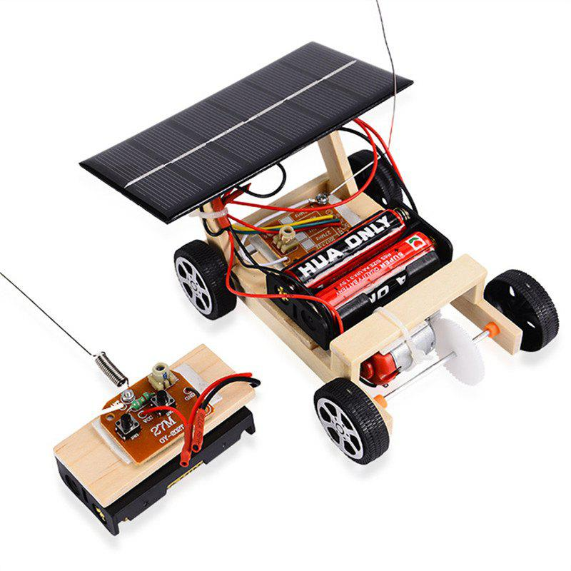 Outfits Solar Remote Control Vehicle Wooden Assembly Car Science Educational Toy