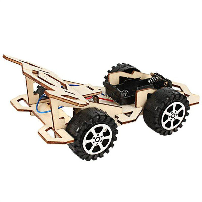DIY Electric Wood Racing Car Assembled Educational Mini Toy 276940201