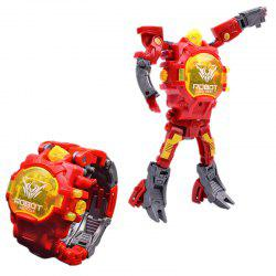 Deformation Electronic Sports Cartoon Watches Robot Transformation Toy -