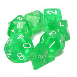 Polyhedral Dice Color Math Game Set 7PCS -