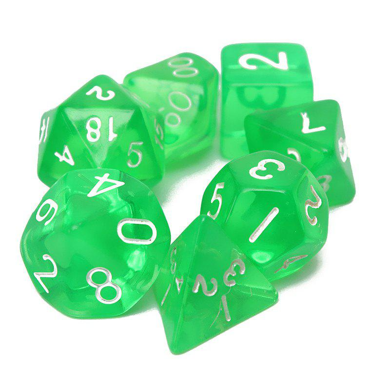 Latest Polyhedral Dice Color Math Game Set 7PCS