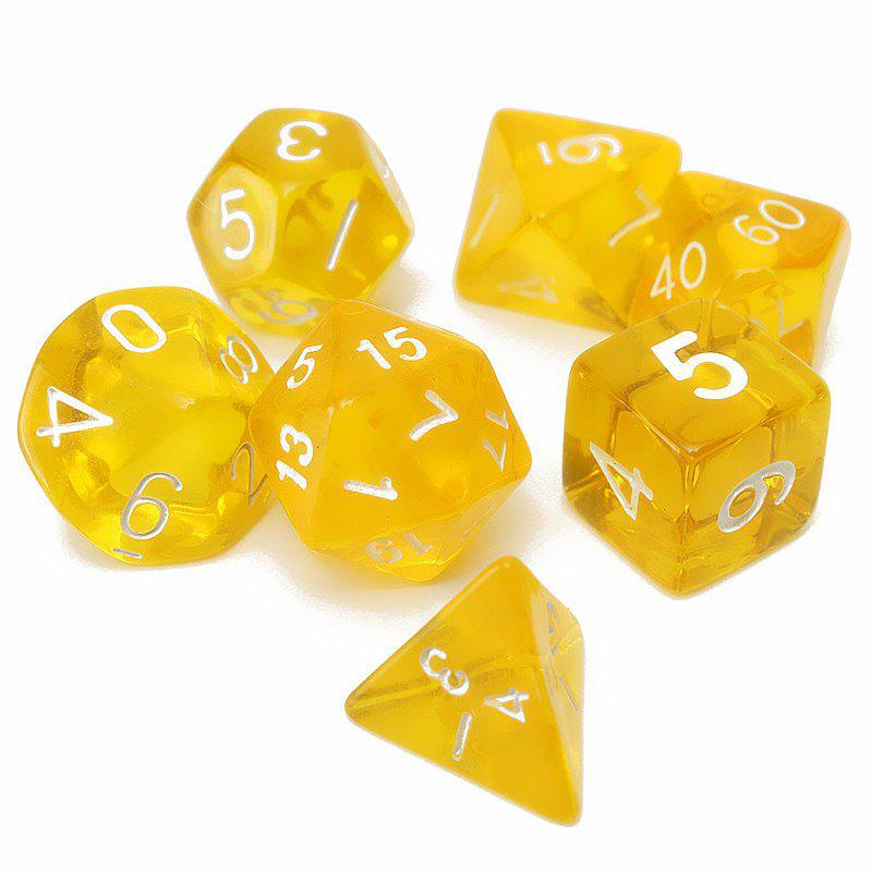 Outfits Polyhedral Dice Color Math Game Set 7PCS