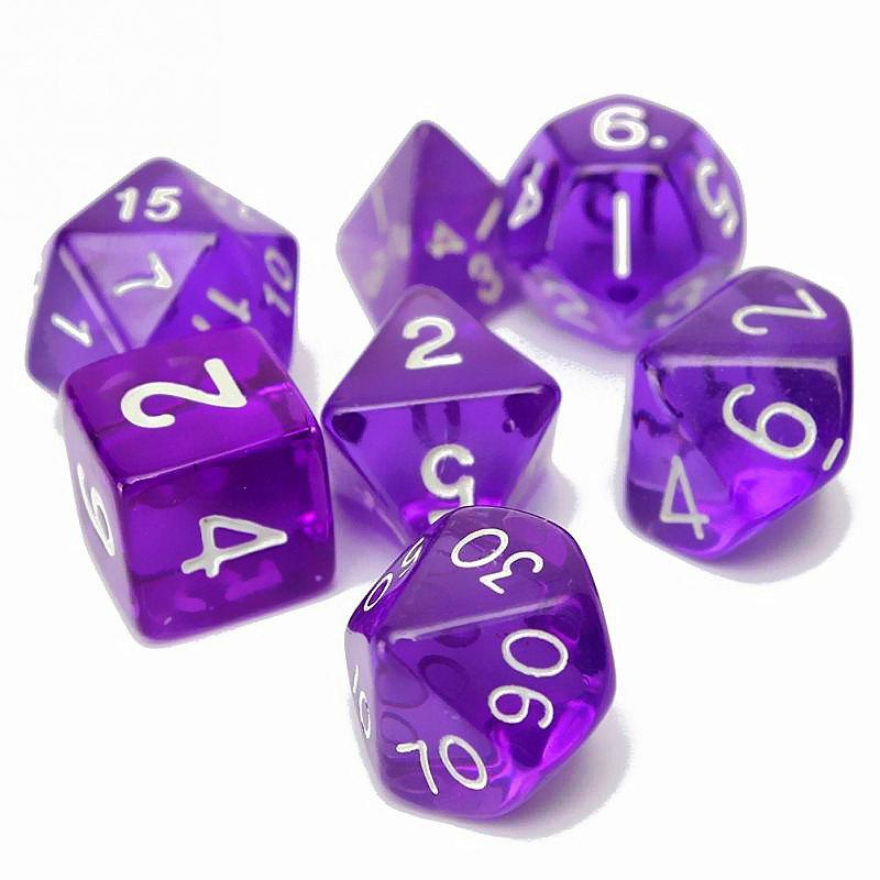 Fancy Polyhedral Dice Color Math Game Set 7PCS