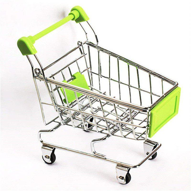 Outfits Mini Supermarket Handcart Shopping Utility Cart Mode Storage Toy