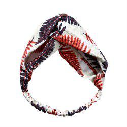 Female Travel Home Wash Cross Elastic Maple Leaf Headband -